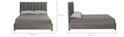 dimension of Quentin Bed