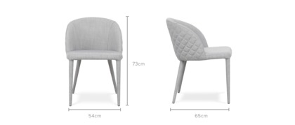 dimension of Anabelle Chair, 1 Pair