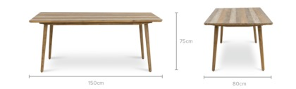 dimension of Spot Dining Table