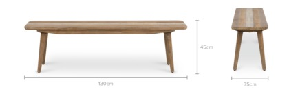 dimension of Spot Dining Bench