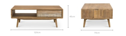 dimension of Spot Coffee Table, 120cm
