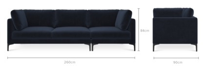 dimension of Adams Sofa