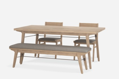Astonishing Miles Dining Table With Bench And 2 Chairs Interior Design Ideas Gentotryabchikinfo
