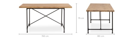 dimension of Marx Dining Table