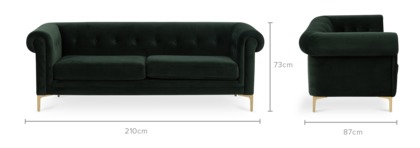 dimension of Ines 3 Seater Sofa