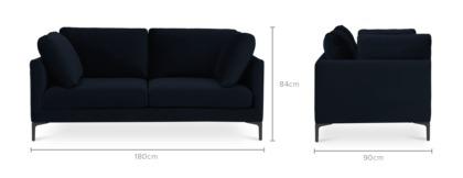 dimension of Adams 2 Seater Sofa