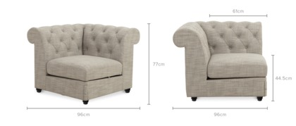 dimension of Jacques Corner Sofa