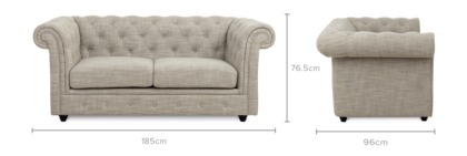 dimension of Jacques 2 Seater Sofa