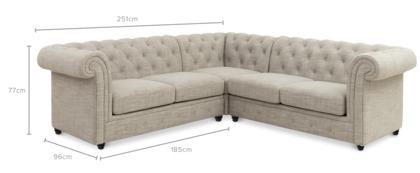 dimension of Jacques L-Shape Sectional Sofa