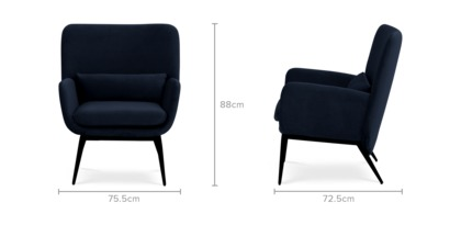 dimension of Cammy Armchair