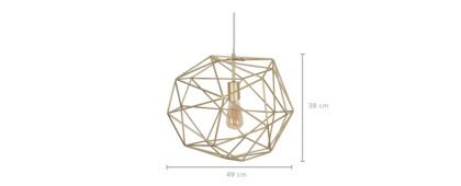 dimension of Stix Pendant Light