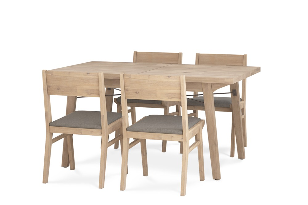 Miles Extendable Dining Table With 4 Chairs Castlery Singapore