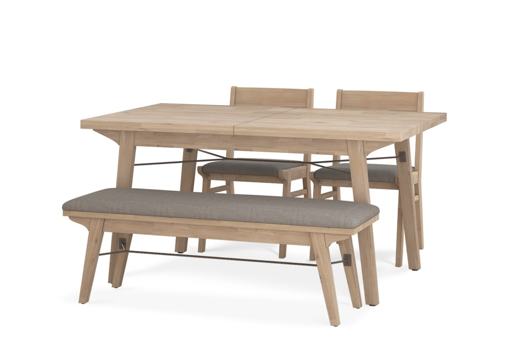 Miles Extendable Dining Table with Bench and 2 Chairs ...