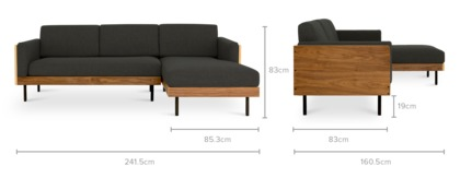 dimension of William Sofa Sectional