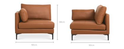 dimension of Adams Left Corner Sofa Leather