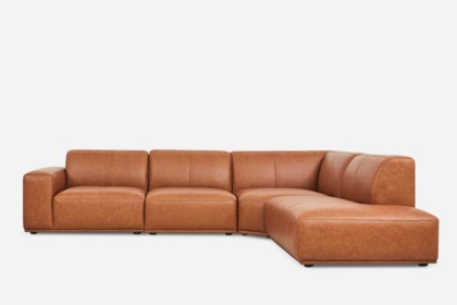 Astonishing Todd Extended Sectional Chaise Sofa Leather Alphanode Cool Chair Designs And Ideas Alphanodeonline