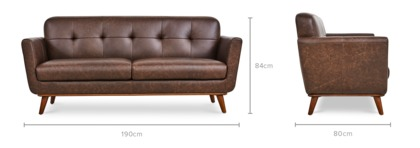 dimension of Hanford Sofa Leather