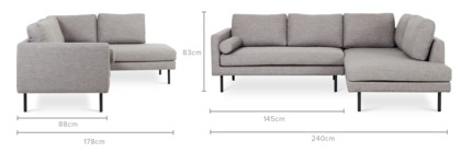 dimension of Nash Sofa Sectional
