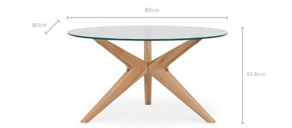 dimension of Bess Coffee Table