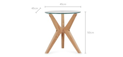 dimension of Bess Side Table
