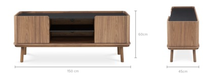dimension of Strato TV Console Walnut