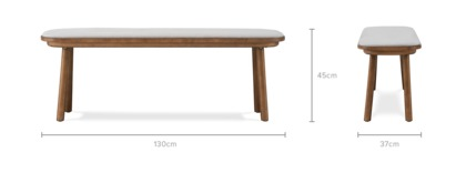dimension of Strato Low Bench Walnut