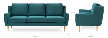 dimension of Adelphi 3 Seater Sofa