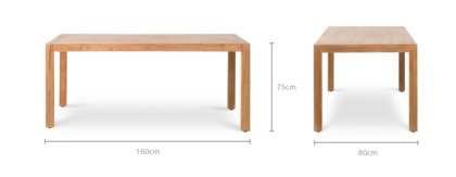 dimension of Alexander Dining Table
