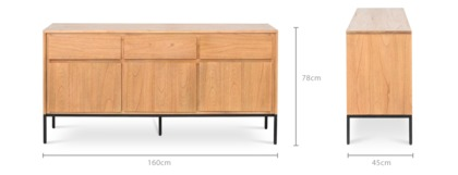 dimension of Alexander Sideboard, 160cm