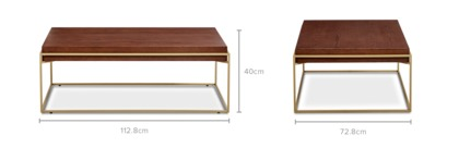 dimension of Piper Coffee Table