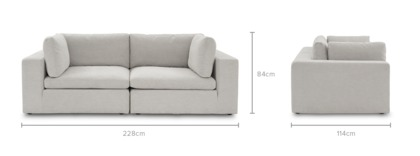 dimension of Noah 2 Seater Sofa