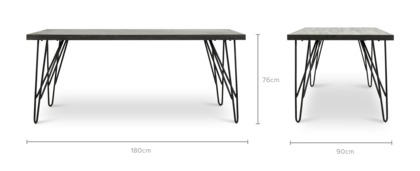 dimension of Taylor Dining Table