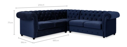 dimension of Jacques L-Shape Sectional Sofa
