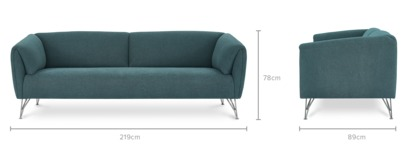 dimension of Gianni 3 Seater Sofa