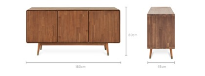 dimension of Almo Sideboard, 160cm