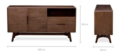 dimension of Carrie Sideboard, 160cm