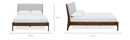dimension of Carrie Bed