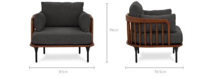 dimension of Wayne Armchair