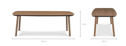 dimension of Strato Dining Table Walnut