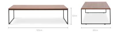 dimension of Harris Coffee Table Low