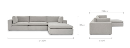 dimension of Noah Sectional Sofa