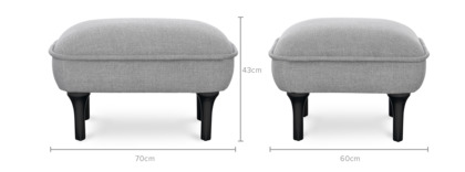 dimension of Bickerton Ottoman
