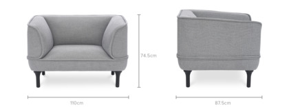dimension of Bickerton Armchair