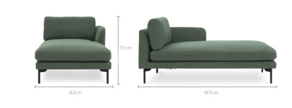 dimension of Pebble Right Chaise