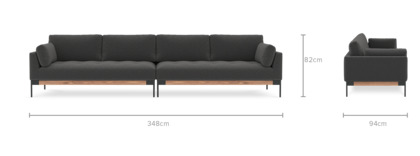dimension of Ethan 4.5 Seater Sofa