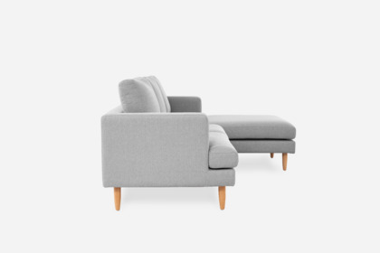 Tana Sofa Sectional Light Grey Right Facing Castlery Singapore