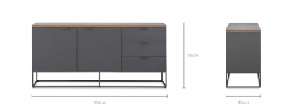 dimension of Alfred Sideboard, 160 cm