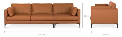 dimension of Adams Sofa Leather