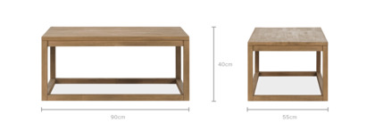 dimension of Logan Coffee Table, 90cm