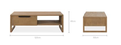 dimension of Logan Coffee Table, 120cm